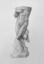 Michelangelo s dying slave the is a sculpture by the italian renaissance artist it is a pencil drawing Royalty Free Stock Image