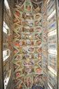 Michelangelo's masterpiece: Sistine Chapel Royalty Free Stock Photo