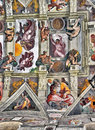 Michelangelo s Sistine Chapel paintings Royalty Free Stock Photo