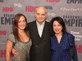 Michele decesare david chase and denise kelly actress writer director producer the sopranos arrive on the red carpet for the new Royalty Free Stock Photography