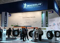 Michelin Stand at Motor Show Royalty Free Stock Photography