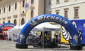 Michelin team sibiu romania july sibiu rally romania fia erc all rally teams have their and car presentation in grand square sibiu Stock Images