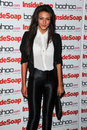 Michelle keegan arriving for the inside soap awards launch party at rosso restaurant manchester picture by steve vas featureflash Royalty Free Stock Images