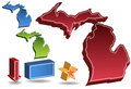 Michigan 3D Royalty Free Stock Images