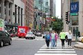 Michigan avenue chicago usa june people walk the famous magnificent mile of in it is s major shopping destination Royalty Free Stock Image