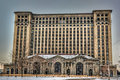 Michigan Central Station Royalty Free Stock Photo