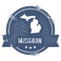 Michigan mark. Royalty Free Stock Photo