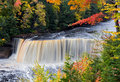 Michigan's Tahquamenon Falls in Autumn Royalty Free Stock Photo