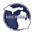 Michigan vector map. Royalty Free Stock Photo
