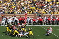 Michigan Wolverines Field Goal Block Royalty Free Stock Photo