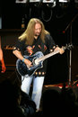 Mick box is guitarist at legendary rock band uriah heep in a concert in bucharest Stock Photos