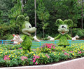 Mickey and Minnie Mouse Topiaries Stock Image