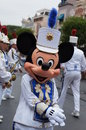Mickey mouse leading the band down main street at disneyland in california Stock Photography