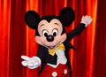 Mickey mouse making one of his poses in the meet pavilion in disney paris picture taken on june was one of the Royalty Free Stock Images