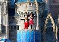Mickey y minnie mouse en etapa en el mundo orlando florida de disney Foto de archivo libre de regalías