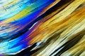 Micro crystals in polarized light Stock Photos