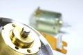 Micro motors close up shot of dc Royalty Free Stock Photography