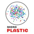 micro plastic . Micro plastic generated from marine waste Harmful when entering the body Royalty Free Stock Photo
