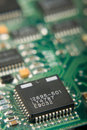 Microchip On Circuit Board Stock Photos