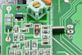 Microcontroller board which electronic components are Stock Image