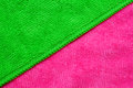 Microfiber background pink and green diagonal of cloth Royalty Free Stock Image