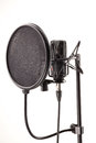 Microphone in broadcasting station Royalty Free Stock Photo