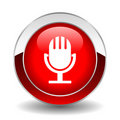 Microphone button Royalty Free Stock Image