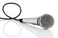 Microphone with cable Stock Photos