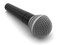 Microphone clipping path included image with Stock Photo