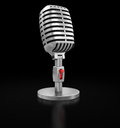 Microphone clipping path included image with Stock Images