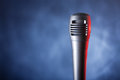 Microphone with copyspace Stock Photos