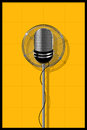 Microphone design illustration of a old Royalty Free Stock Image