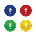 Microphone icon set for use Royalty Free Stock Photo