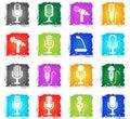 microphone icon set Royalty Free Stock Photo