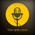 Microphone icons retro icon in yellow and black color vector illustration Royalty Free Stock Image