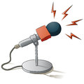 Microphone illustration of a to record voice Royalty Free Stock Photo
