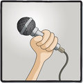 Microphone illustration of a to record voice Stock Photography