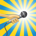 Microphone illustration of a to record voice Royalty Free Stock Photos