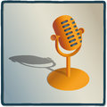 Microphone illustration of a to record voice Stock Image