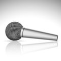 Microphone illustration of a on white background Stock Photography