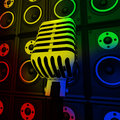 Microphone And Loud Speakers Shows Performance Royalty Free Stock Photo