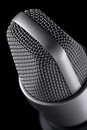 Microphone macro on the black background Stock Photography
