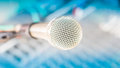 Microphone on mixer Royalty Free Stock Photo