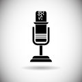 Microphone Modern Web Icon Royalty Free Stock Photo