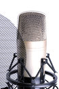 Microphone over white background isolated on Royalty Free Stock Photo