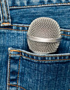 Microphone in a pocket Stock Images