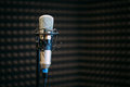 Microphone in the radio studio Royalty Free Stock Photo