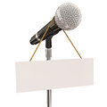 Microphone Stand Blank Copyspace Message Recording Studio Mike P