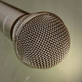 Microphone taken closeup metallic tonal correction Stock Photography