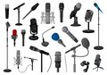 Microphone vector illustration on white background. Vector cartoon set icon music mic. Isolated cartoon set icon Royalty Free Stock Photo